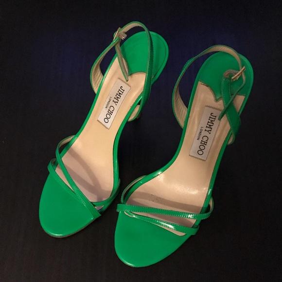 Jimmy Choo Shoes - Jimmy Choo Green Slingbacks